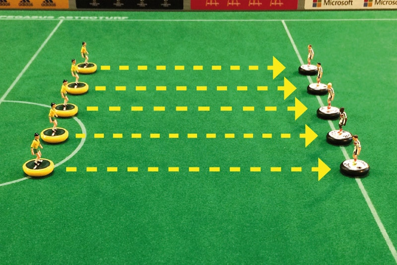 Subbuteo training: Easy exercises, No. 02