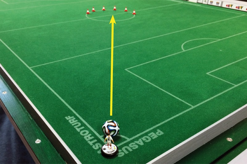 moderate Subbuteo training exercises No. 7