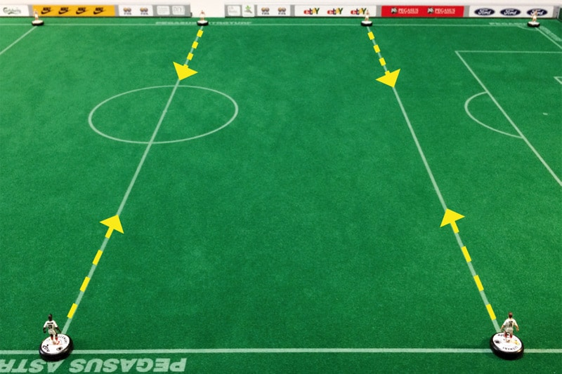 moderate Subbuteo training exercises, No. 10