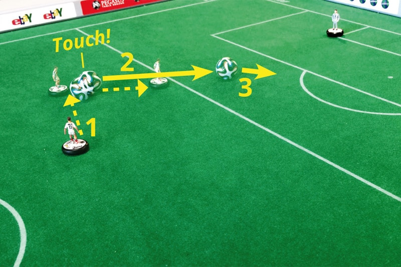 Subbuteo training: Difficult exercises, No. 16
