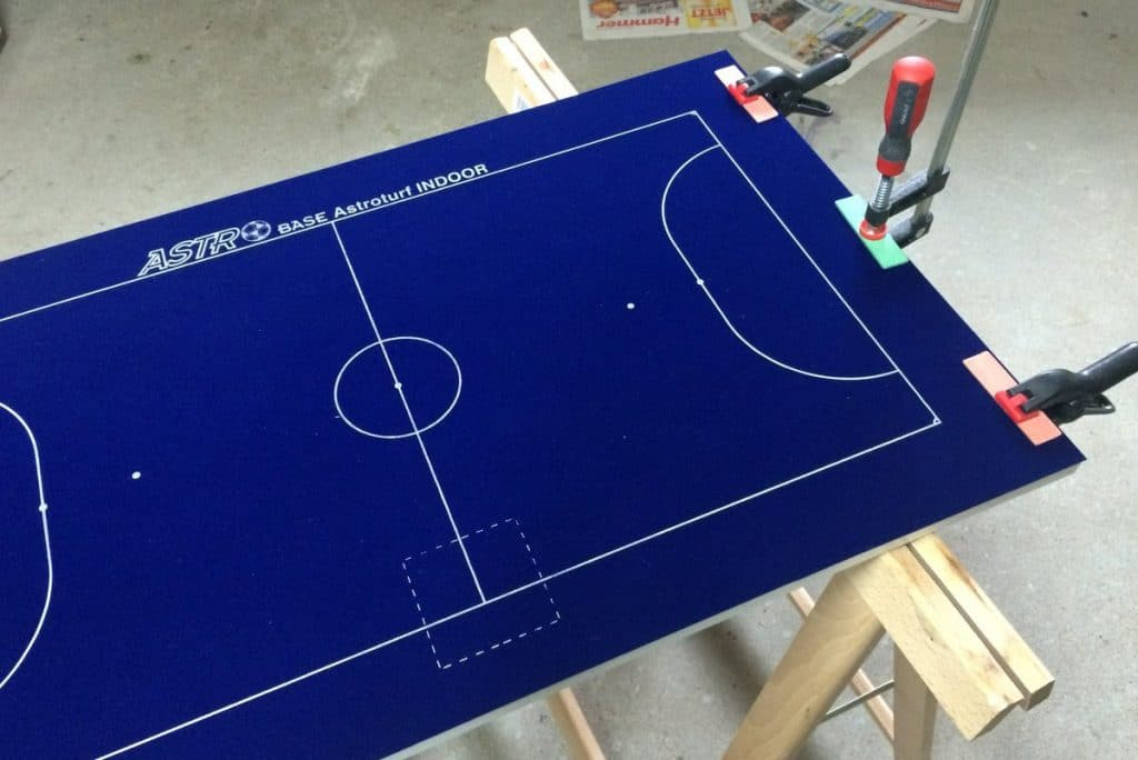 A smaller Subbuteo pitch: Play 5-a-side!