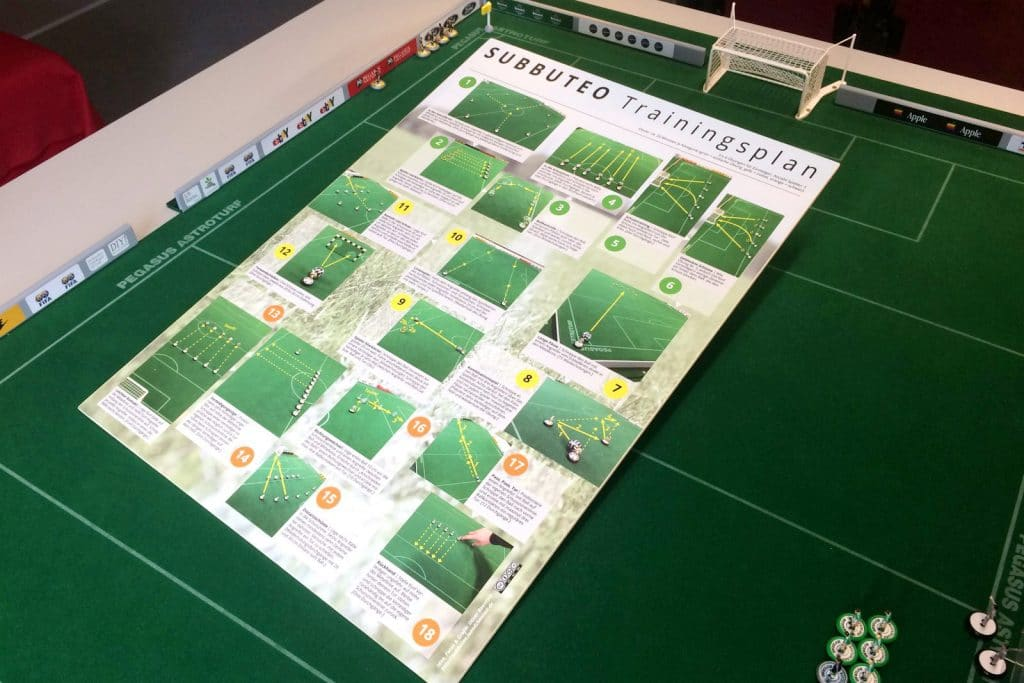 Subbuteo training plan