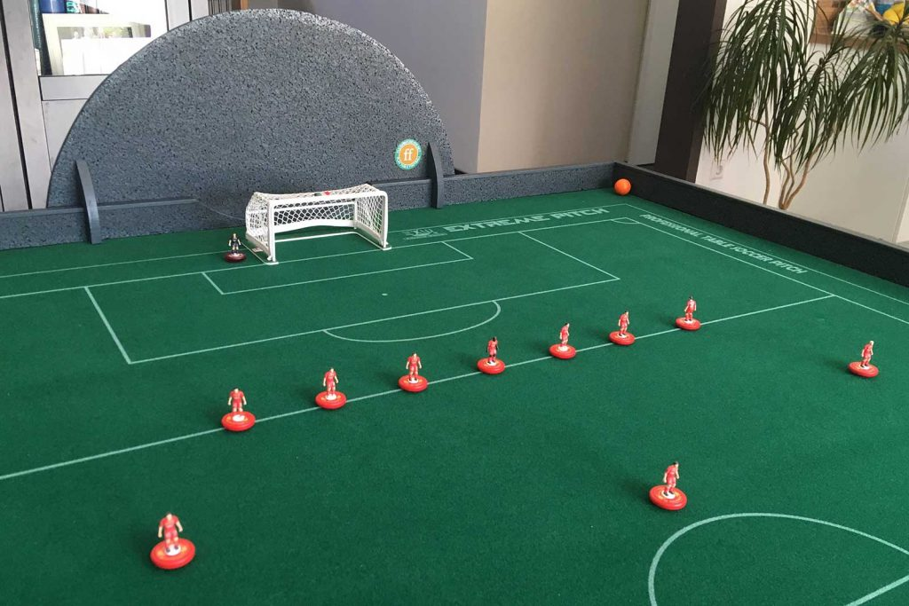 How to make a foldable DIY Subbuteo table.